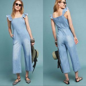 NWT Anthropologie Dolan Minnie Chambray Jumpsuit L